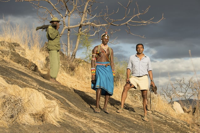 M Sanjayan With Samburu tribesman in Kenya, photo by Ami Vitale