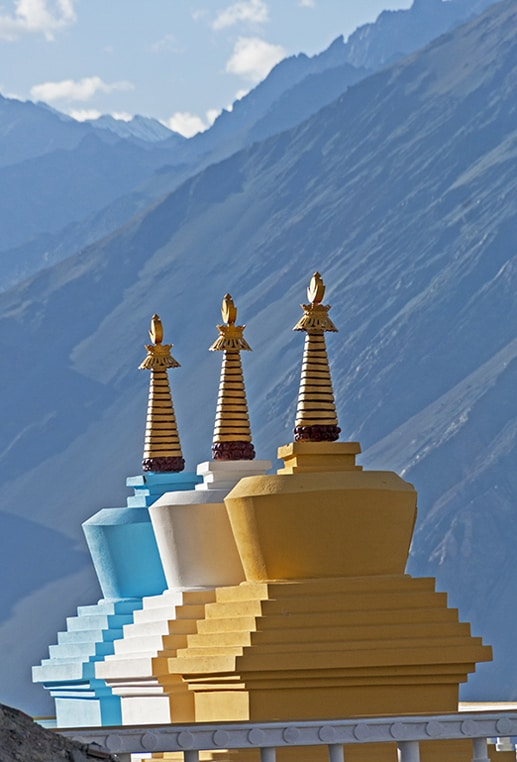 Three Stupas Nubra V