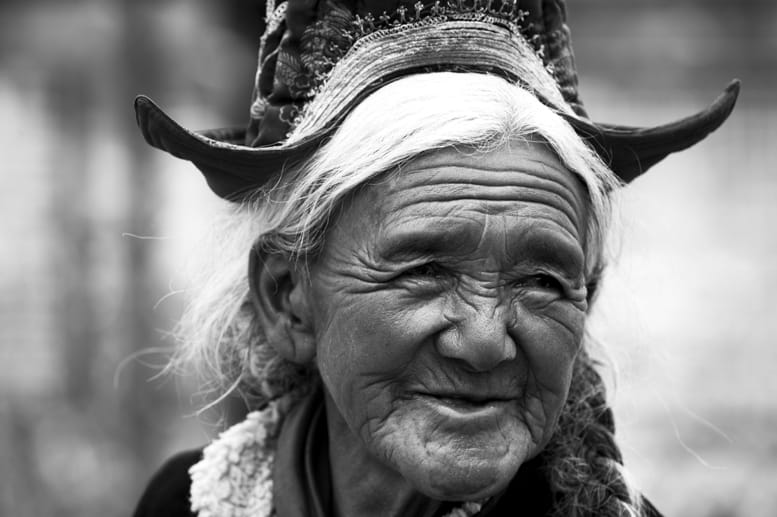 Nubra Valley Old Lady