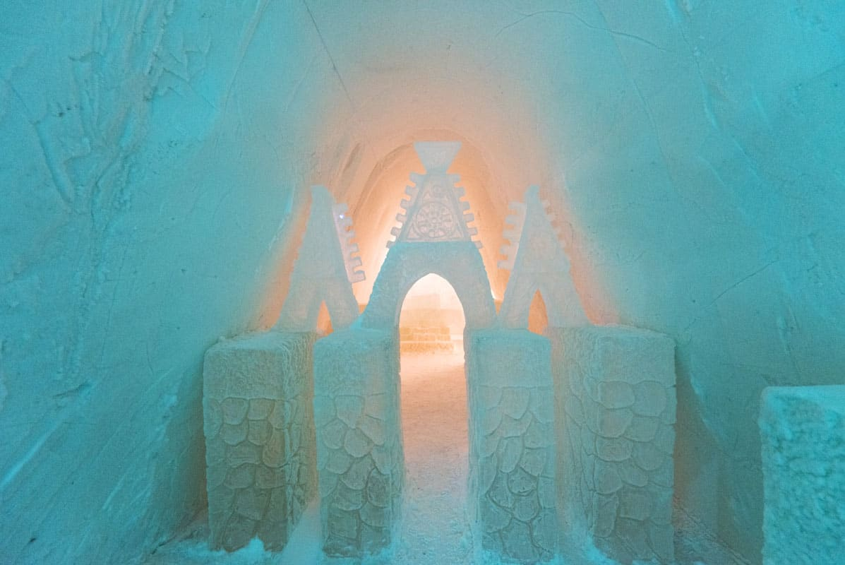 Ice Carvings in Finnish Lapland