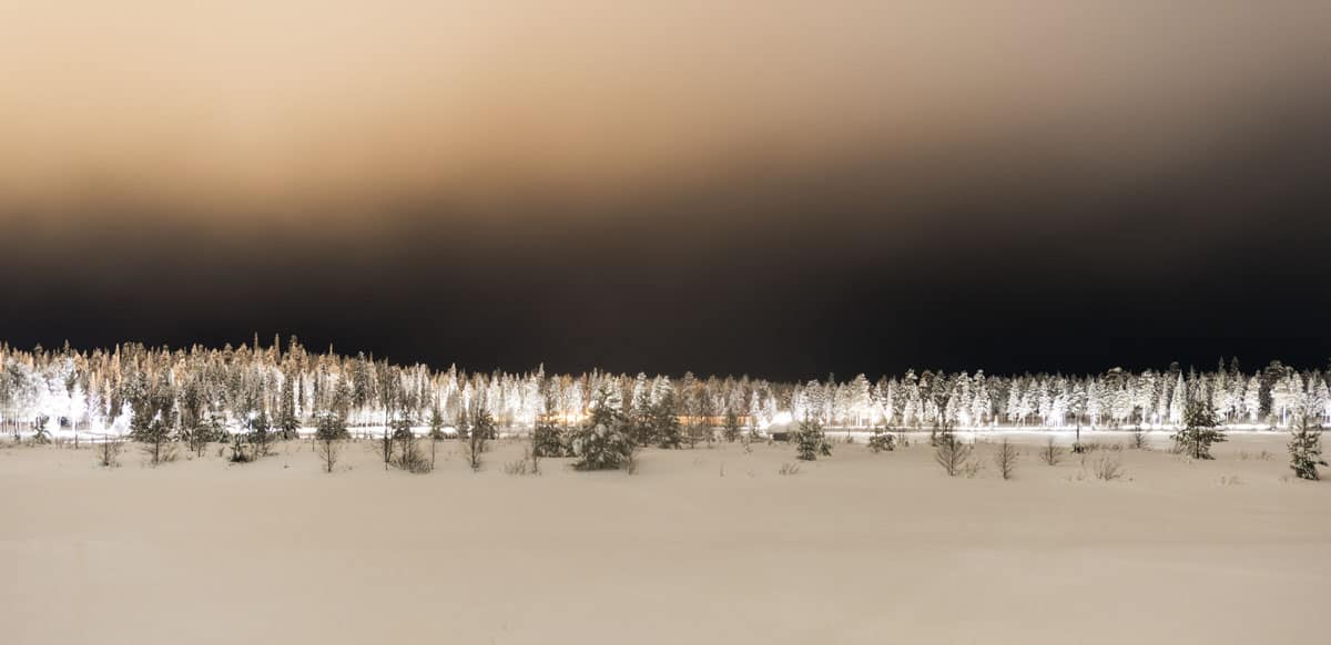 Nighttime in Salla, Finnish Lapland