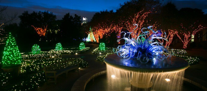 5 best christmas light displays in georgia Atlanta botanical garden restaurant