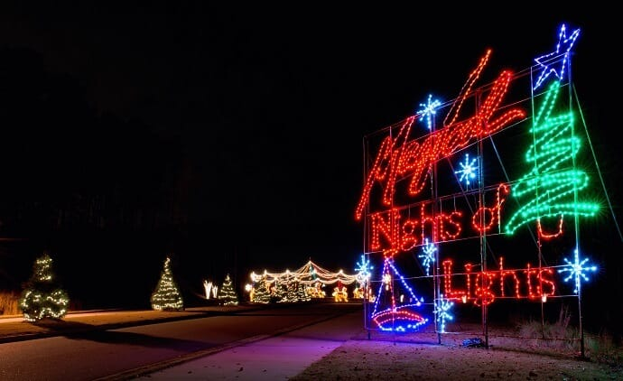 Christmas Lights near me -Magical Nights of Lights at Lanier Islands
