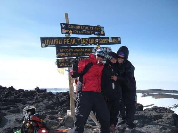 Jordan Romero at the Summit of Mt Kilimanjaro, Tanzania