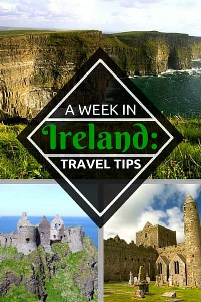 Ireland Travel Tips for the best spots and things to do including the perfect one week itinerary for your Ireland vacation via @greenglobaltrvl