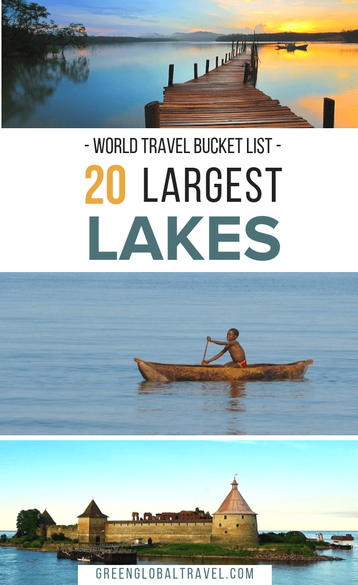 The 20 Largest #Lakes in the World by Continent, including the Caspian Sea, Lake Superior, Lake Victoria, Lake Huron, Lake Michigan, Lake Tanganyika & more, via @GreenGlobalTrvl. #LakesInAsia #LakesInAfrica #LakesInAustralia #LakesInCanada #GreatLakes