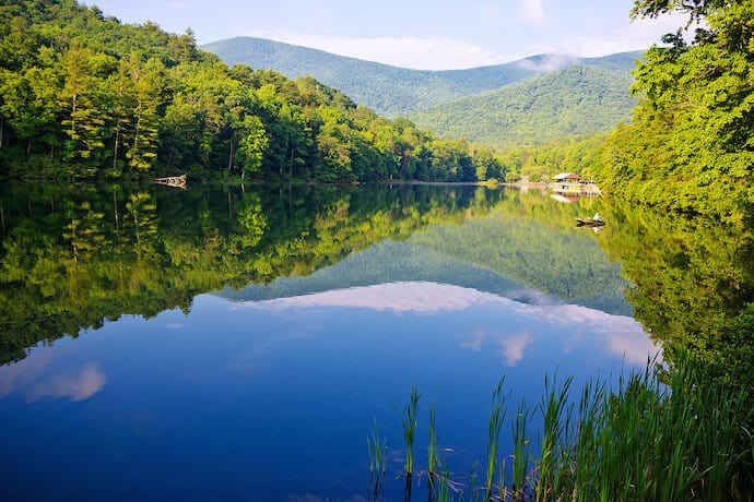 Fishing in Vogel State Park, a great day trip from Atlanta