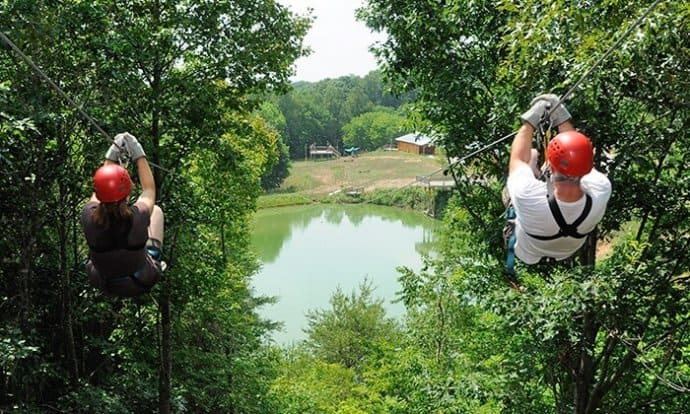 Zip lining the North Georgia Mountains with North Georgia Canopy Tours