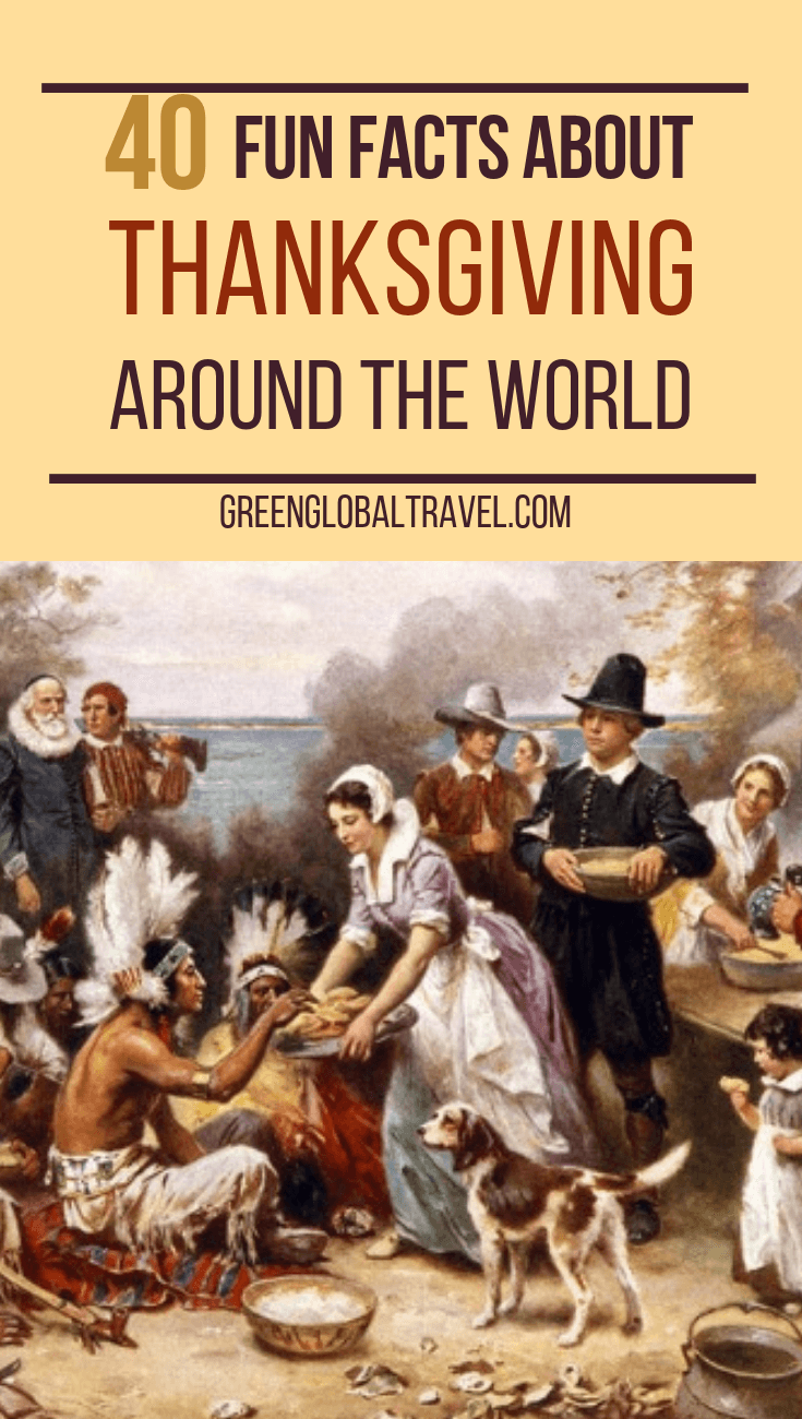 40 Fun Facts About Thanksgiving Around The World including American Thanksgiving History Facts, Macy's Thanksgiving Day Parade History & Harvest Festivals Around the World. #Thanksgiving Traditions #Thanksgiving Background