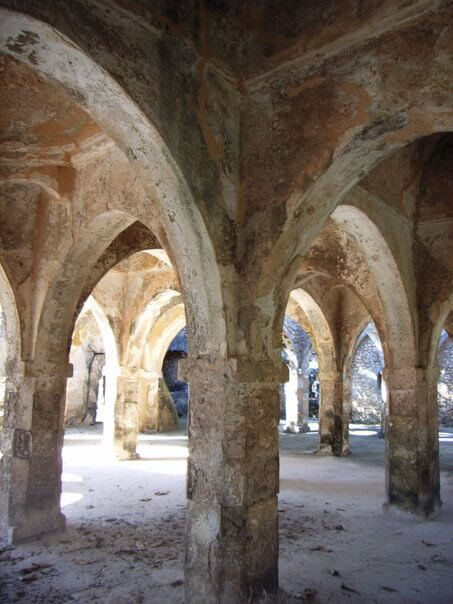 Great Mosque at Kilwa Kisiwani in Tanzania