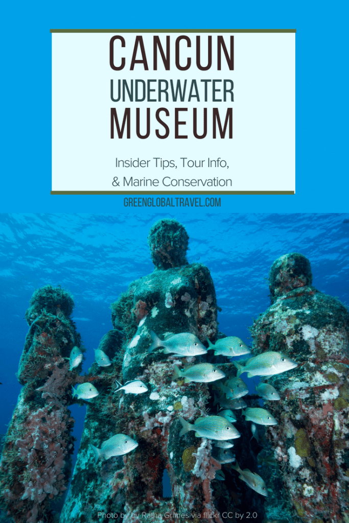Cancun Underwater Museum Mexico: A look into Jason Decaires Taylor's Cancun Underwater Statues with inside tips on scuba diving vs snorkeling via @greenglobaltrvl | Cancun Underwater Museum Sculpture Garden | Cancun Underwater Museum Art | Cancun Underwater Museum Travel |