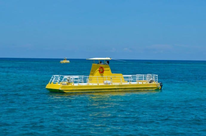 MUSA Cancun Underwater Museum by Glass boat