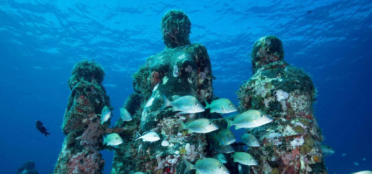 Underwater Art Museum in Cancun Mexico