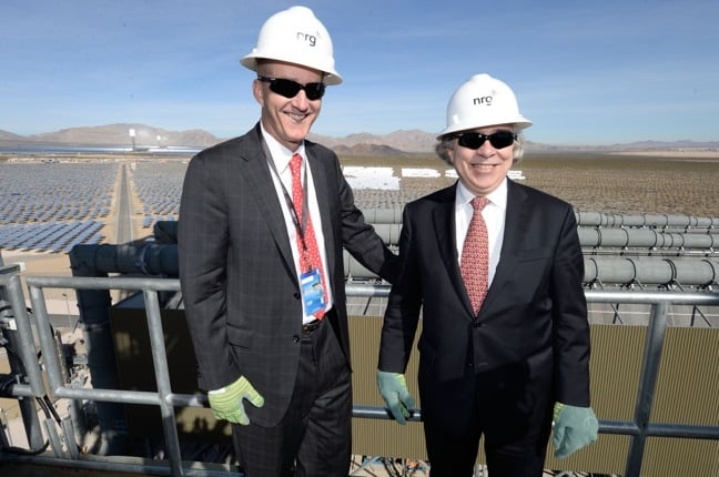 David Crane & US Energy Secretary Ernest Moniz Tour Ivanpah Solar Plant