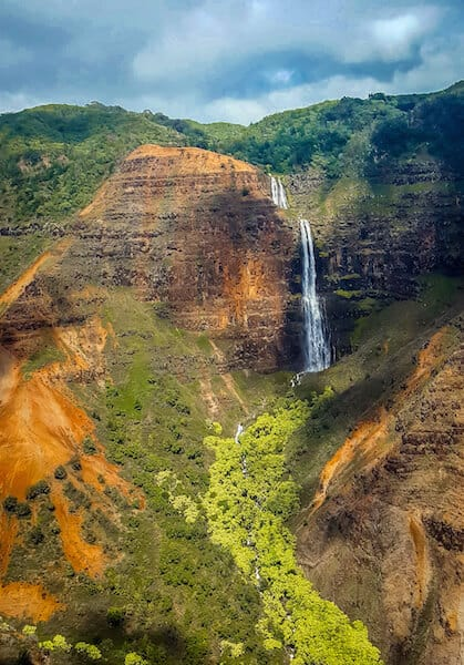 Jurassic Park Falls In Kauai, Hawaii