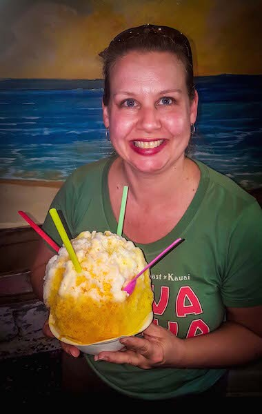 Shaved Ice at Skinny Mikes in Lihue, Kauai