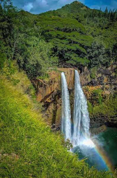Wailua Falls (aka Fantasy Island Falls) in Kauai, Hawaii