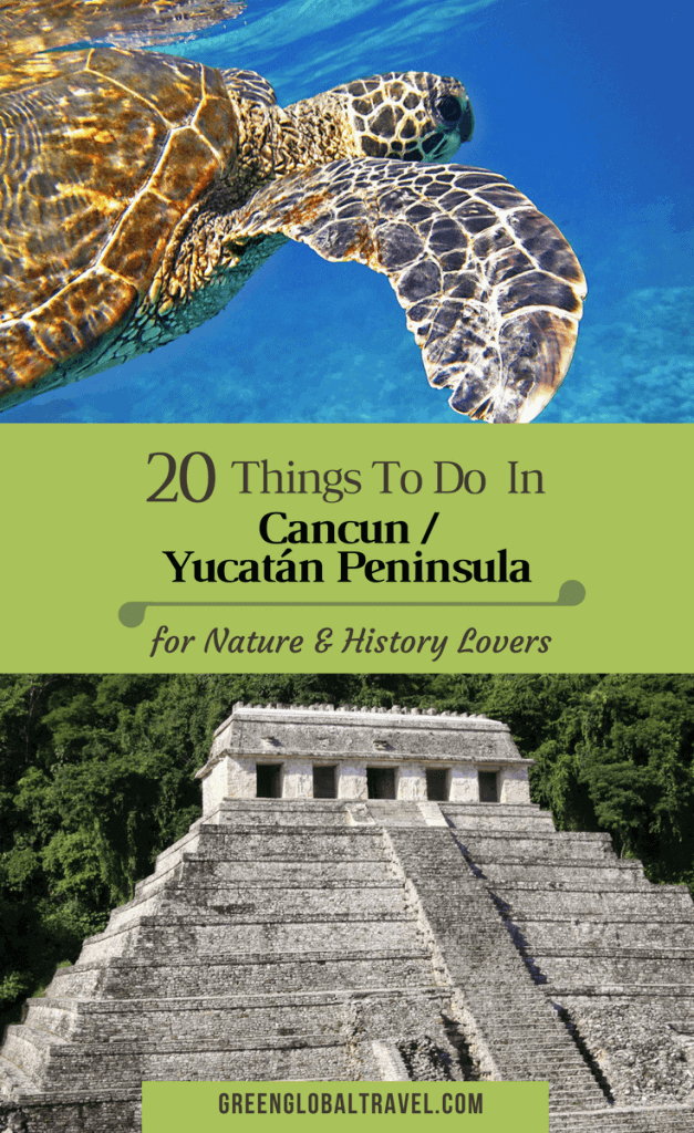 20 Things to Do in Cancun, Mexico (for History & Nature Lovers), including Cancun Underwater Museum, Cobá, Rio Secreto Underground River & Swimming with Whale Sharks (with VIDEO!). via @greenglobaltrvl