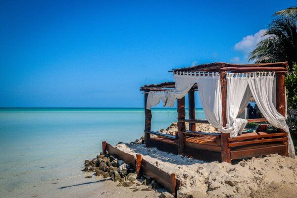 Beds on the Beach of Isla Holbox