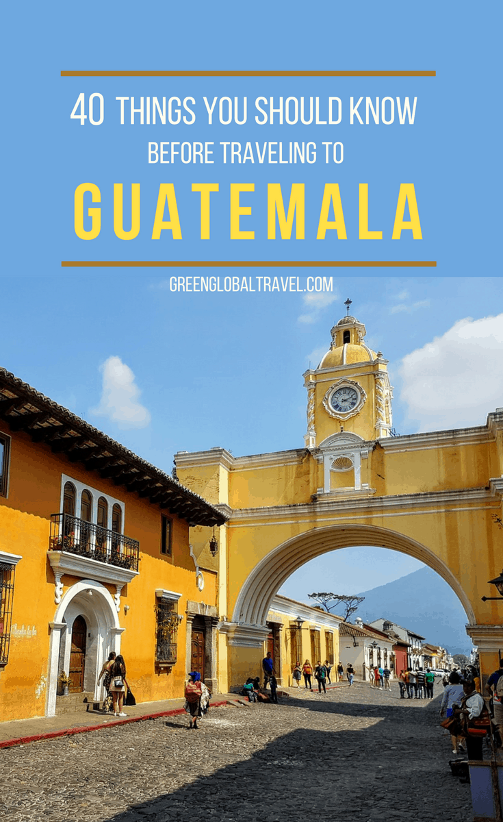 Check out our guide with 40 Things You Should Know Before Traveling to Guatemala including: Places to see in Guatemala, Things to do in Guatemala, Safety and Transport in Guatemala, Things to Eat (and Drink) in Guatemala, Culture and History in Guatemala & more! via @greenglobaltrvl
