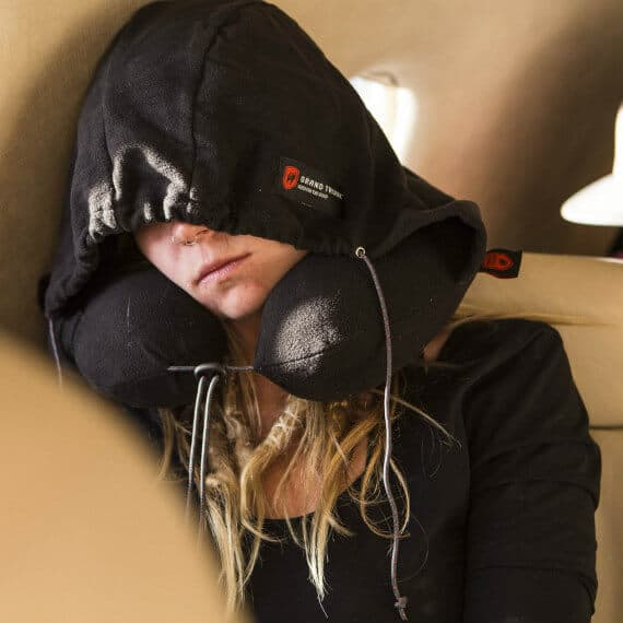 Best Gift ideas for Frequent Flyers -Grand Trunk Hooded Travel Pillow