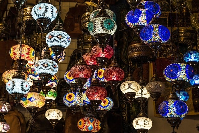 Not every country celebrates Christmas -Morocco lamps instead of Christmas Lights