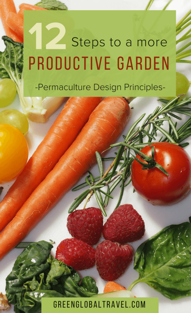 12 Permaculture Design Garden ideas. Simple step by step guide to permaculture gardening. Includes easy to follow tips on how to design and build your own more productive permaculture garden, via @greenglobaltrvl
