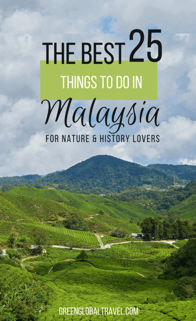The Best 25 Things to do in Malaysia for Nature Lovers including #Borneo #Penang #Langkawi #Malacca #Sabah #Cameron Highlands #Kota Kinabalu #Batu Caves #Perhentian Islands via @greenglobaltrvl