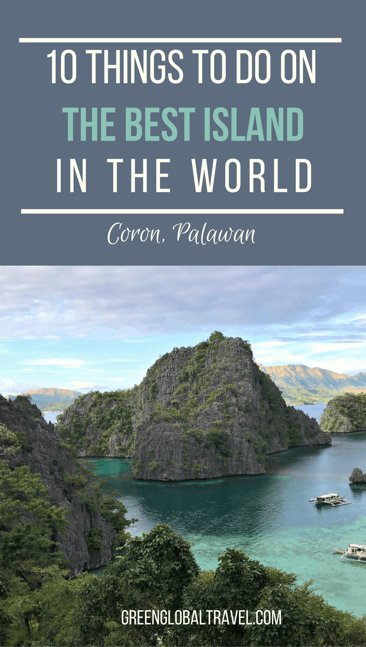 The Top 10 Things to Do in Coron, Palawan, part of the Philippine archipelago Travel+Leisure readers voted the #1 island in the world two years in a row! Includes a brief look at the history of Coron, tips on where to stay, and our picks for the best things to do in the area, from climbing mountains and hiking dramatic limestone landscapes to snorkeling and Scuba diving with an impress array of marine life. via @greenglobaltrvl
