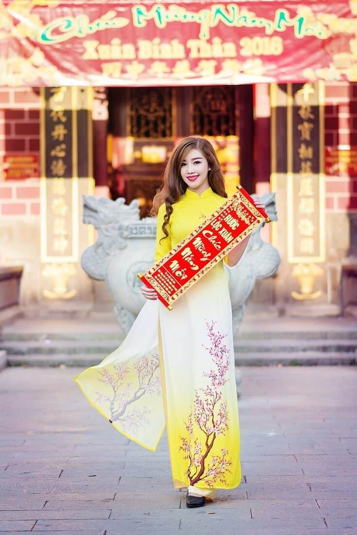 Traditional New Years Clothing - Vietnamese ao dai