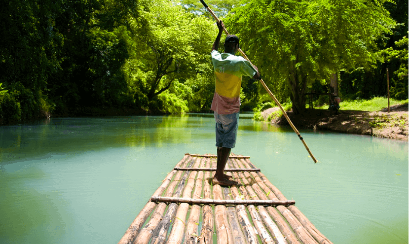 Things to Do in Jamaica: rafting Martha Brae River