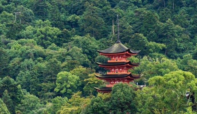 Japan Photos: Miyajima 5-story pagoda