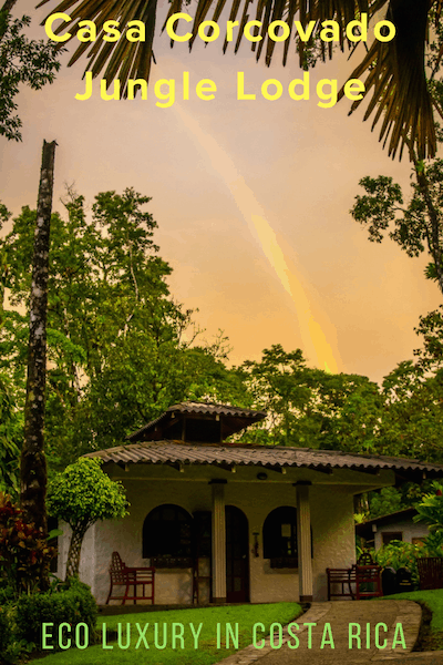 Rainbow over Casa Corcovado Jungle Lodge