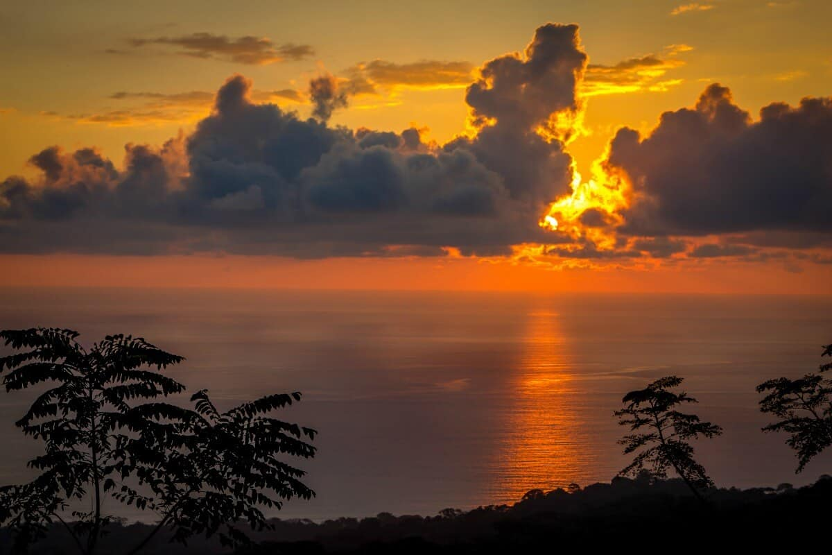 Sunset in Corcovado National Park
