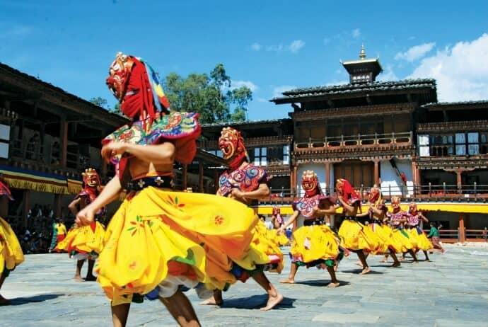 Bhutan Travel Guide Mask Dance via @greenglobaltrvl