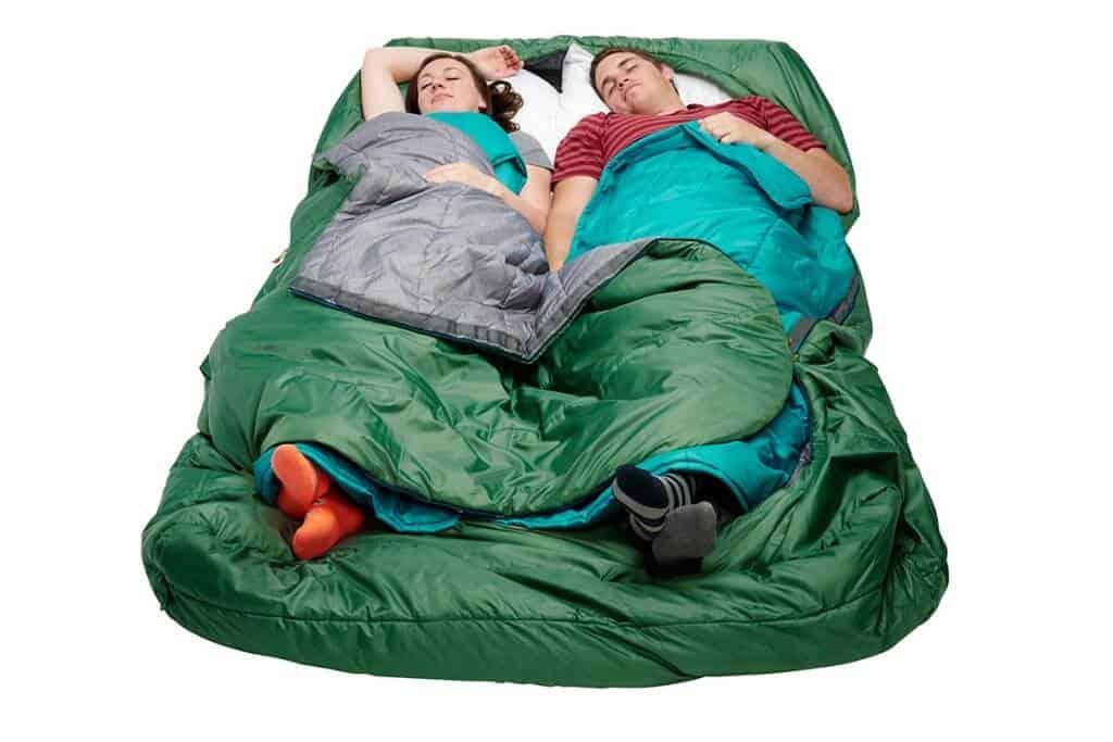 Spring Outdoor Gear Reviews - Ketly Tru Comfort Doublewide 20 Sleeping Bag 2 people via @greenglobaltrvl