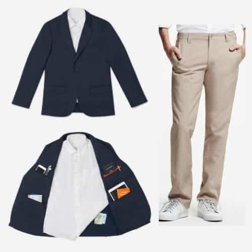 Best Mens Travel Clothes Bluffworks Blazer And Chinos Via Greenglobaltrvl