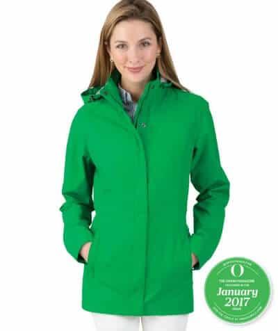 Best Travel Clothes - Charles River Apparel Logan Rain Jacket via@ greenglobaltrvl