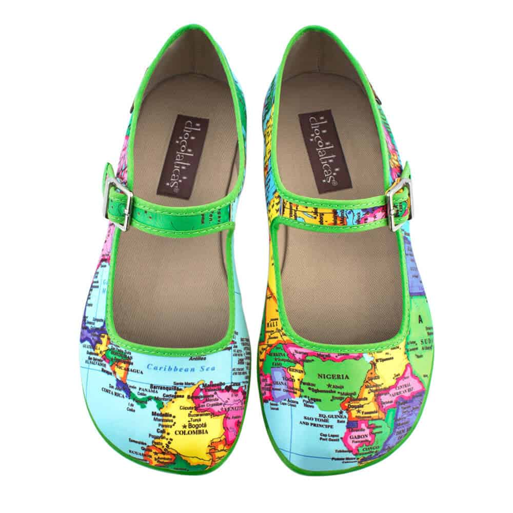 Best Travel Clothes - Hot Chocolate Designs MaryJane Bonvoyage Flats via @greenglobaltravel