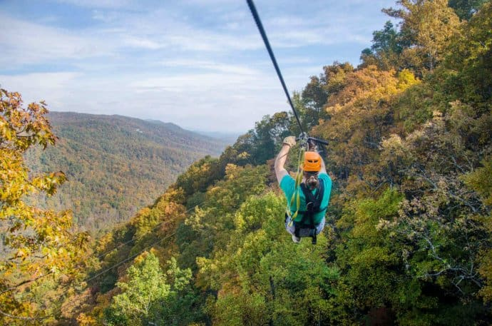 Things to Do in Asheville: Zipline