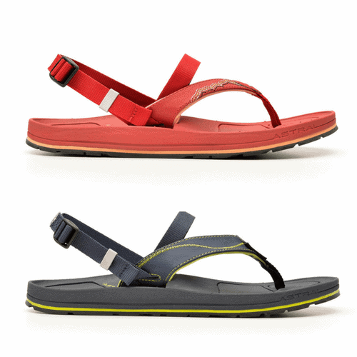 Best Men's Beach Clothes and Shoes - Astral Convertible Flip Flops via @greenglobaltrvl