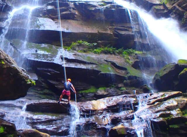Things to do in Asheville: Rappel Waterfalls