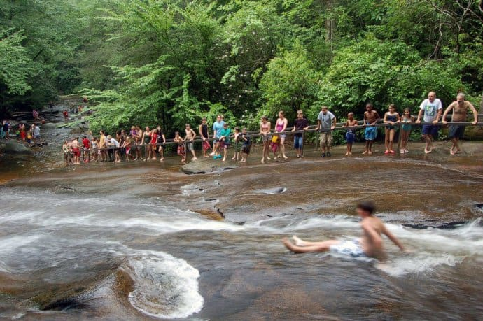 Things to do in Asheville: Sliding Rock