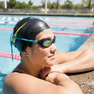 Finis Circuit Goggles on Woman