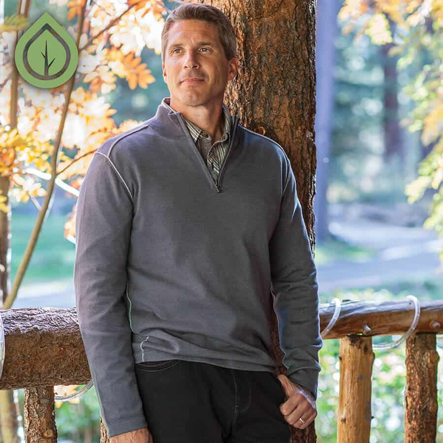 Cool Camping Gear for Autumn -Ecoths Noah Zip Neck Sweater
