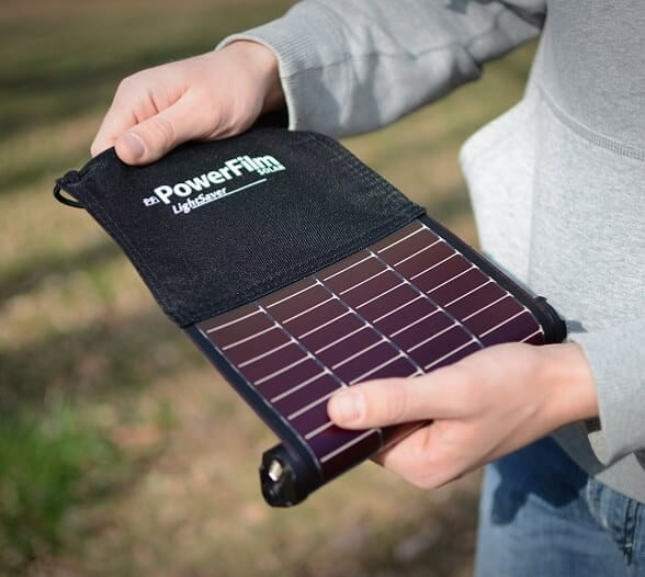 Cool Camping Gear for Autumn -PowerFilm LightSaver solar panel