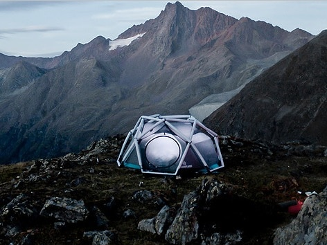 Cool Camping Gear for Autumn -The Cave Inflatable Tent via The Grommmet