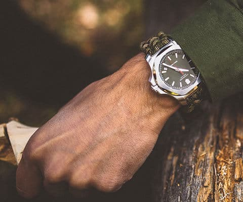 Cool Camping Gear for Autumn -Victorinox Swiss Army INOX Paracord Watch