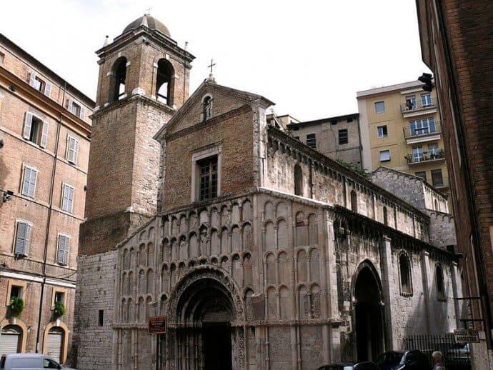 Church of Santa Maria della Piazza in Le Marche, Italy