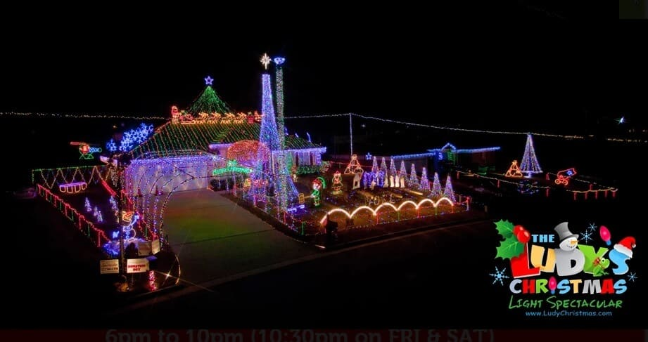 Best Christmas Lights in Georgia (private residence) -Ludy's Christmas Light  Spectacular - The 20 Best Christmas Lights Near Atlanta For 2018 (with Map!)